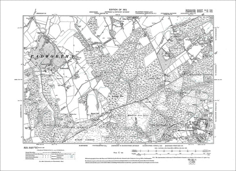 Padworth, Stratfield Mortimer (W), old map Berkshire 1913: 44NE