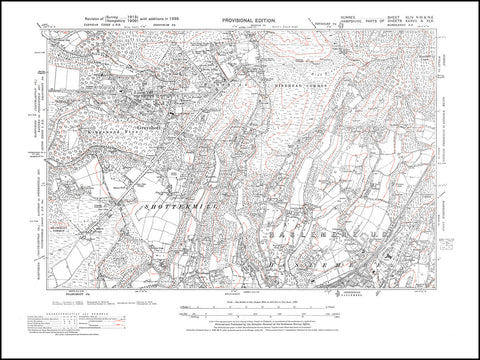 Haslemere (north), Shottermill (north), Elstead   (south), Surrey in 1938 : 44-NW
