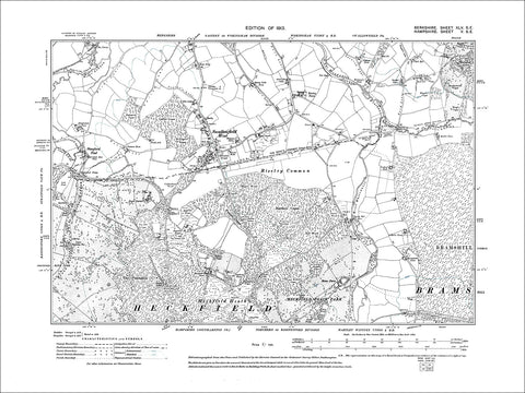 Swallowfield West, old map Berkshire 1913: 45SE