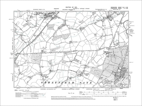 Stratfield Mortimer (S), Beech Hill, old map Berkshire 1913: 45SW