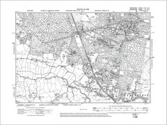 Crowthorne, Sandhurst, old map Berkshire 1912: 46SE