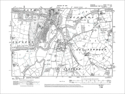 Aldford, Eaton Park, old map Cheshire 1913: 46SE