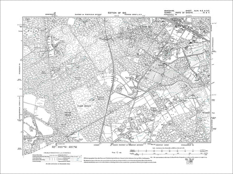 South Ascot, Sunninghill (S), old map Berkshire 1913: 47NE