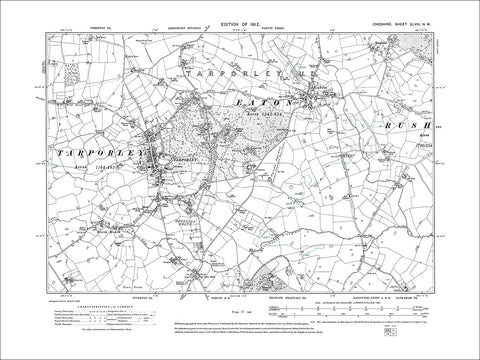 Tarporley, Eaton, old map Cheshire 1912: 48NW