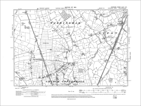 Church Coppenhall (N), Coppenhall Moss, old map Cheshire 1910: 49SE