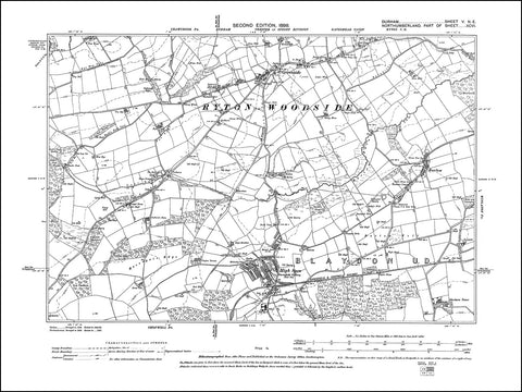 DURHAM 05NE : Old map of Ryton Woodside (south), Greenside, High Spen in 1898
