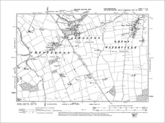 HUNTINGDONSHIRE 05NW : Old map of Alwalton, Orton Waterville, Chesterton in 1902