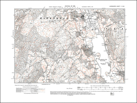 LANCASHIRE 05NW : old map of Hawkshead, Colthouse, in 1919