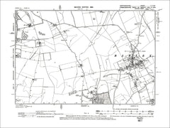 HERTFORDSHIRE 05SW : Old map of Barley in 1899