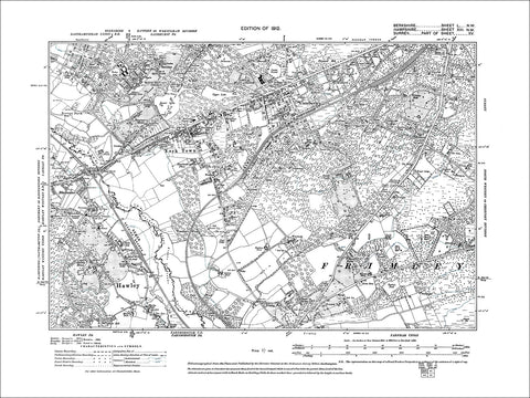 Sandhurst College, old map Berkshire 1912: 50NW