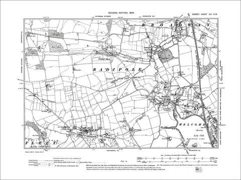 Dorset sheet 53NW - old map of Buckland Ripers, Broadway, Nottington in 1903