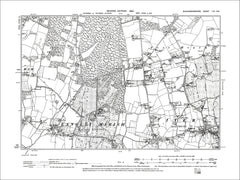 Iver (W), Iver Heath, George Green, old map Bucks 1900: 53SE