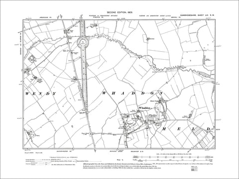 Whaddon, old map Cambs 1903: 53SW