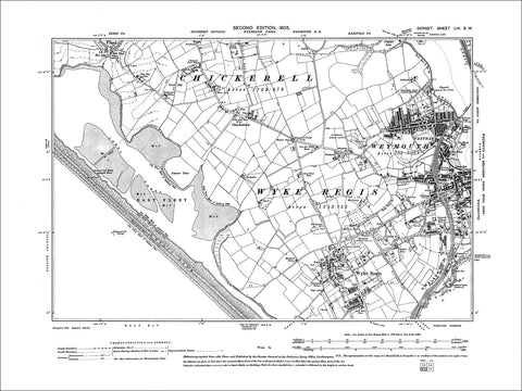 Dorset sheet 53SW - old map of Weymouth (west), Wyke Regis, Fleet in 1903