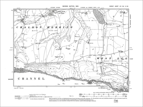 Dorset sheet 54NE-SE - old map of St Oswalds Bay, East Chaldon in 1903
