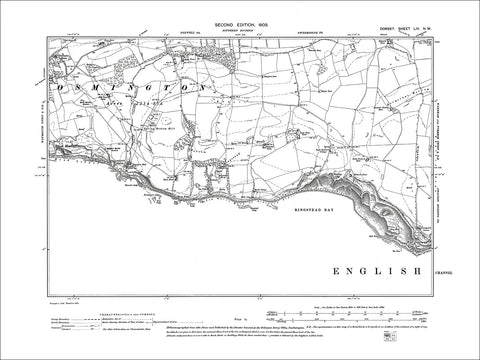Dorset sheet 54NW - old map of Osmington (east), Ringstead Bay in 1903