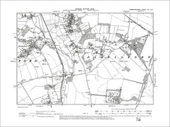 Pampisford, Sawston (S), Whittlesford (E), old map Cambs 1903: 54SE