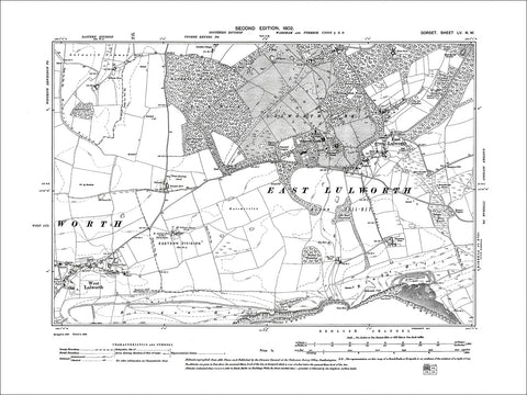 Dorset sheet 55NW - old map of East Lulworth, West Lulworth in 1902