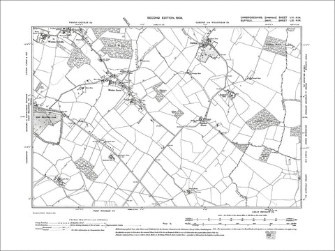 Weston Colville (S), W. Green, Carlton, old map Cambs 1903: 56NW