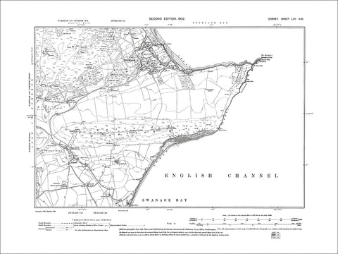 Dorset sheet 57NW - old map of Studland, Swanage Bay in 1902