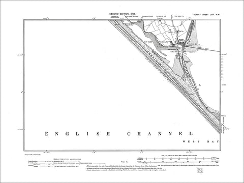 Dorset sheet 58NW - old map of Portland Harbour in 1903
