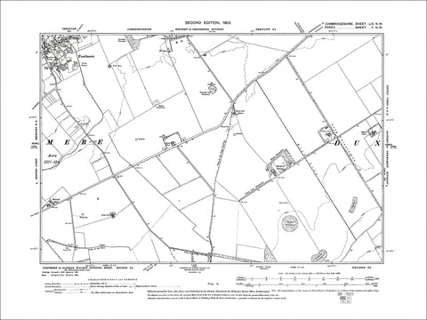 Fowlmere (SE), old map Cambs 1903: 59NW