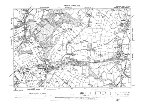 DURHAM 06SW : Old map of Burnopfield, Sunniside in 1898