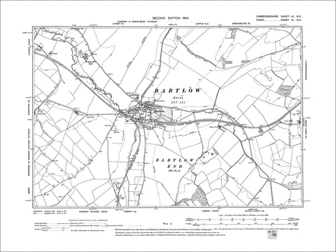 Bartlow, old map Cambs 1904: 60NE