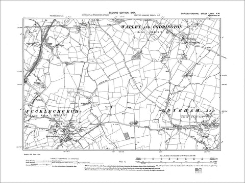 Long Ashton Old Map Gloucestershire 1905 Bristol Bedminster 75NE
