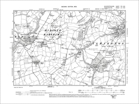 GLOUCESTERSHIRE 08NW : Old map of Hidcote Bartrim, Hidcote Boyce in 1903