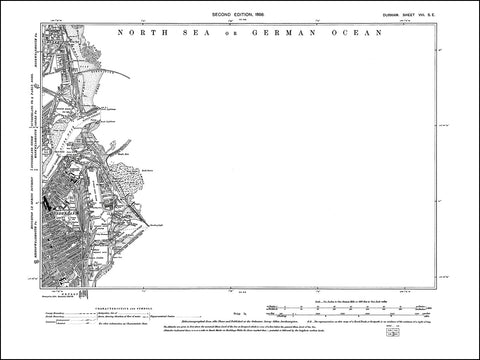 DURHAM 08SE : Old map of Sunderland Hudson and Hendon Docks in 1898