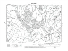 HAMPSHIRE 08SW : Old map of Ashmansworth in 1912