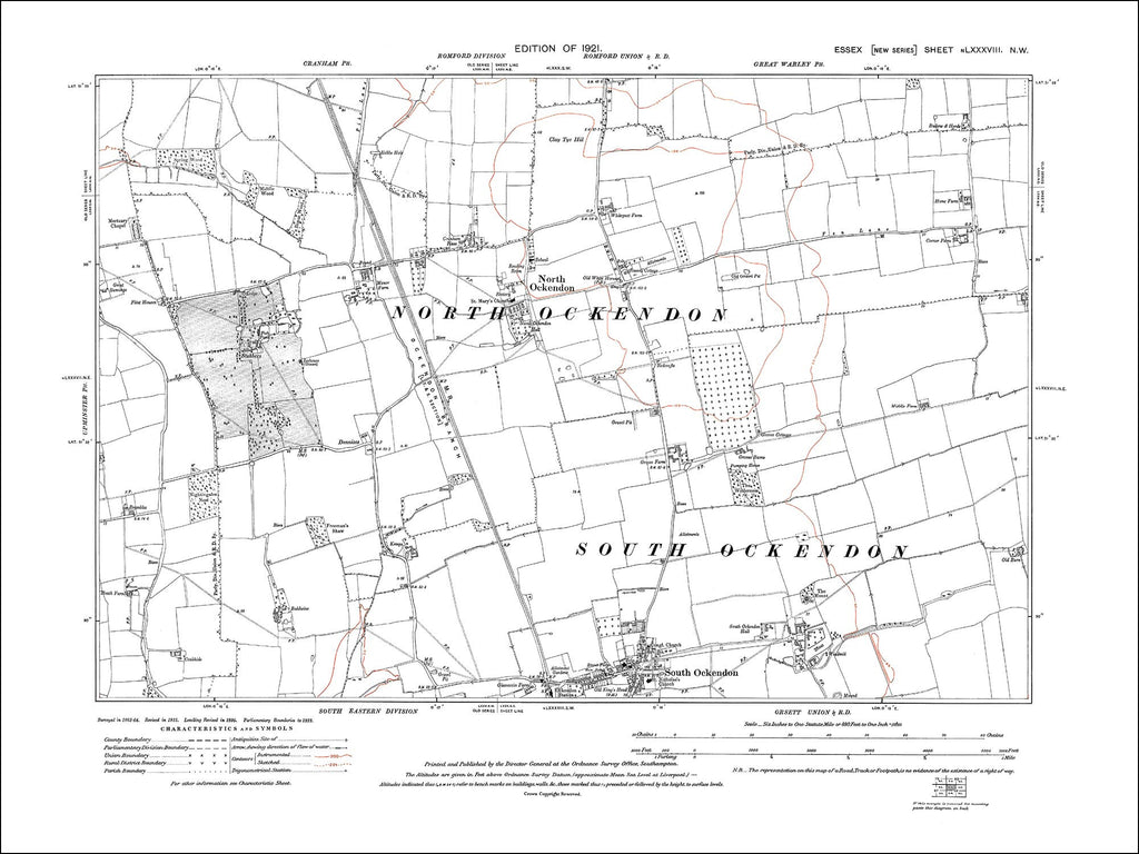North Ockendon, South Ockendon, Essex 1921 (88NW)