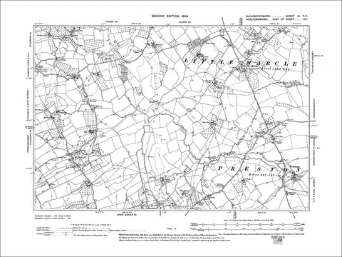 GLOUCESTERSHIRE 09NE : Old map of Rushall in 1904