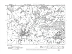HAMPSHIRE 09NE : Old map of Kingsclere, Wolverton in 1912