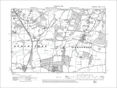 HAMPSHIRE 09NW : Old map of Highclere (west), Ecchinswell, Sydmonton (north) in 1912