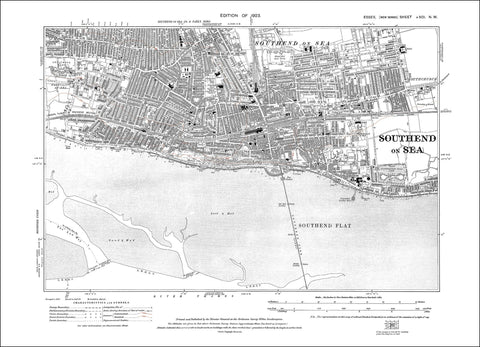 Southend on Sea, Essex 1923 (91NW)