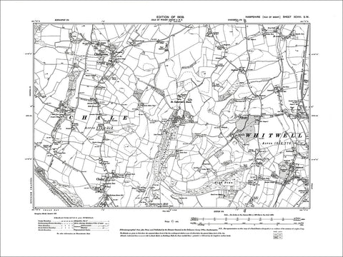 HAMPSHIRE 98SW Isle of Wight : Old map of Chalegreen, Chale, Whitwell in 1909