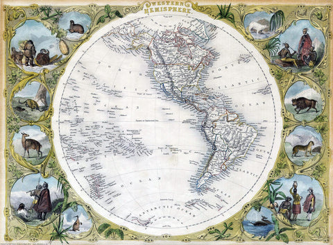 Western Hemisphere and The Americas in 1850