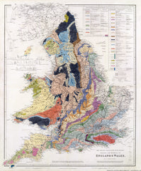 The Inland Navigation, Rail Roads, Geology and Minerals of England & Wales, by J. Arrowsmith, 1842