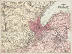 Belfast, Ireland, Environs of, in 1890 by G. W. Bacon