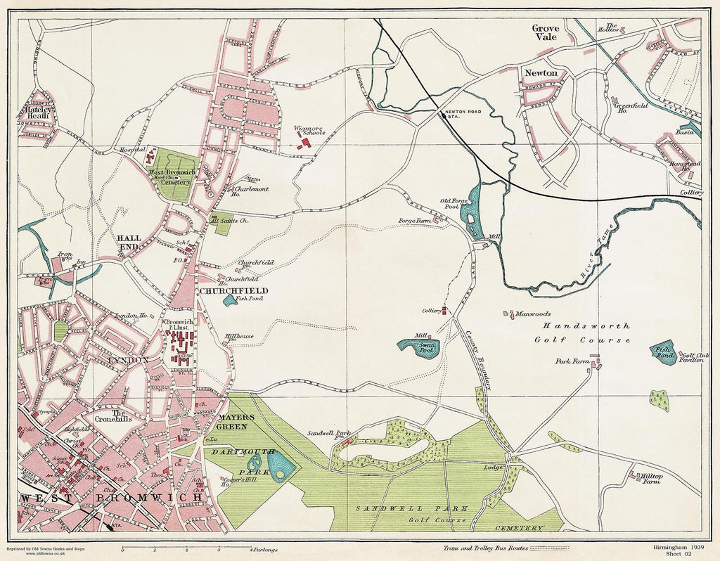 West Bromwich (north) area (Birmingham 1939 Sheet 2)
