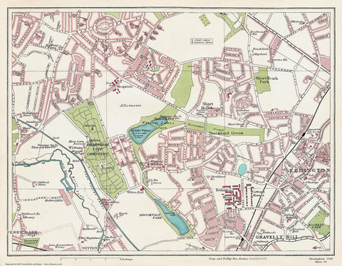 Erdington (west) area (Birmingham 1939 Sheet 4)