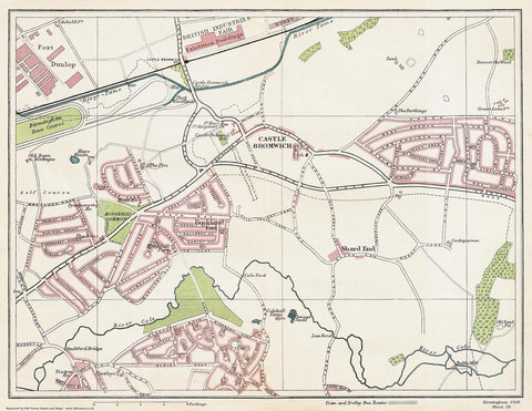 Castle Bromwich area (Birmingham 1939 Sheet 9)