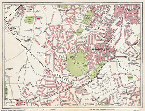 Bearwood area (Birmingham 1939 Sheet 10)