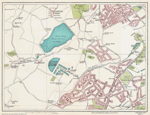 Frankley area (Birmingham 1939 Sheet 19)