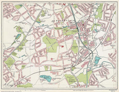 Bournville area (Birmingham 1939 Sheet 20)