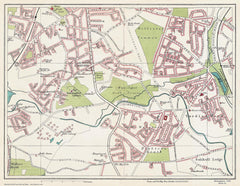 Alcester Lane's End area (Birmingham 1939 Sheet 21)