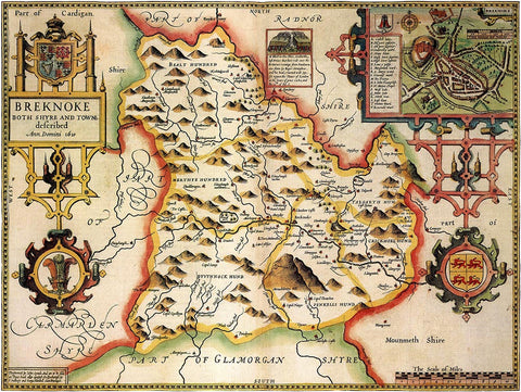 Wales Breconshire (John Speed 1610)