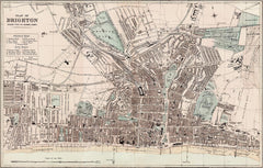 Brighton town plan in 1890 by G. W. Bacon